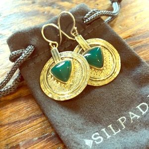 Jewelry - Sterling silver Silpada earrings with jade stone